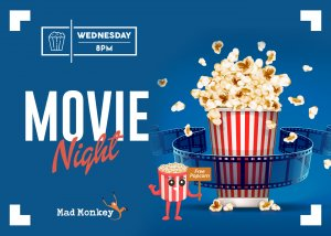 mad-monkey-cairns-free-event-wednesday-8pm-movie-night
